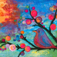 Colorful Songbird - Felted by Ann Laczak