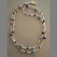 Donna Fitzpatrick labradorite and garnet necklace by Donna Fitzpatrick