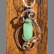 Wire wrapped pendant by Jessica Holbrook