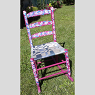 Narani OShaughnessypainted pink chair by Narani OShaughnessy