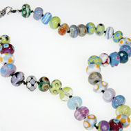 lampworked beads necklace by Diana Tillotson