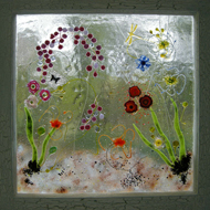 Glass window by Diana Tillotson